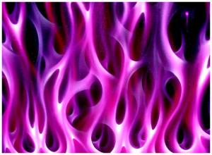 fialový plamen